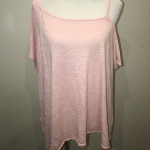 Free People We the Free Oversized Pink Shirt